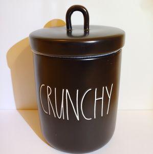 Rae Dunn Black Crunchy Canister Jar With Lid